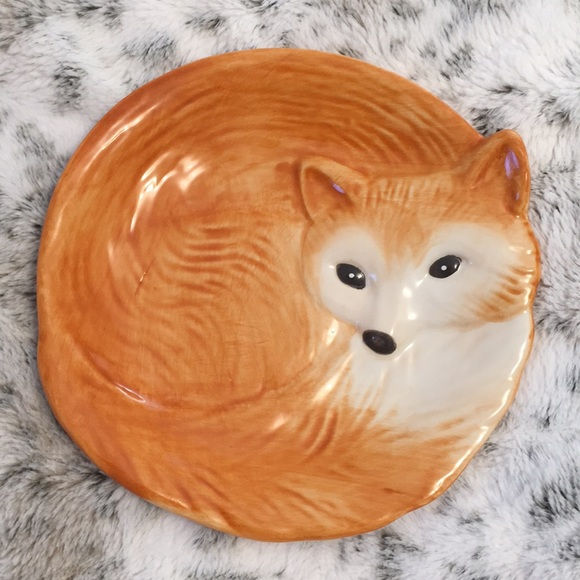 Better Homes and Gardens Ceramic Fox Plate